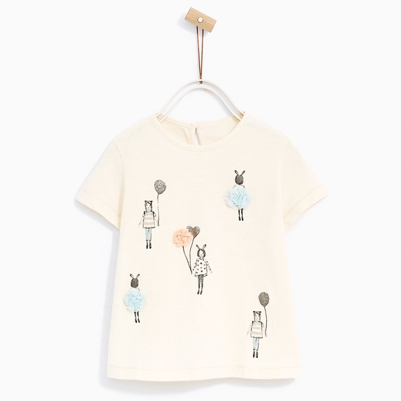 924ec8a0 Zara Shirts & Tops | Baby Blush Balloon Girl Tshirt | Poshmark